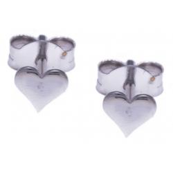 Boucles d'oreille argent rhodié 0,5g - cúurs