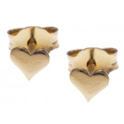 Boucles d'oreille argent doré 0,5g - cúurs