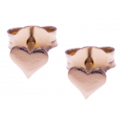 Boucles d'oreille argent rosé 0,5g - cúurs