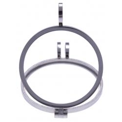 Pendentif en acier - support pierre interchangeable - diamètre 20mm