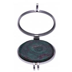 Pierre naturelle pour collier interchangeable Yola - diamètre 20mm - Chrysocolle