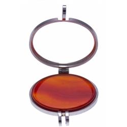 Pierre naturelle pour collier interchangeable Yola  - diamètre 20mm - Agate roug