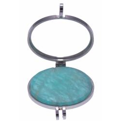 Pierre naturelle pour collier interchangeable Yola - diamètre 20mm - Amazonite