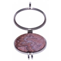 Pierre naturelle pour collier interchangeable Yola - diamètre 20mm - Agate Crazy