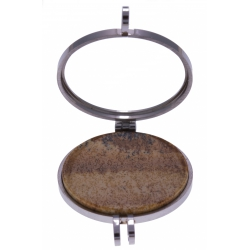 Pierre naturelle pour collier interchangeable Yola - diamètre 20mm - Jaspe Paysa