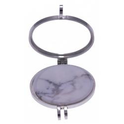 Pierre naturelle pour collier interchangeable Yola  - diamètre 20mm - howlite bl
