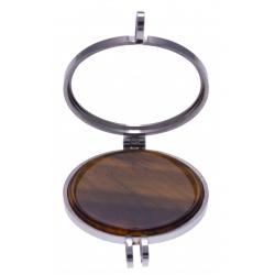 Pierre naturelle pour collier interchangeable Yola - diamètre 20mm - oeil de tigre