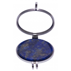 Pierre naturelle pour collier interchangeable Yola - diamètre 20mm - Lapis