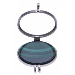 Pierre naturelle pour collier interchangeable Yola - diamètre 20mm - Malachite