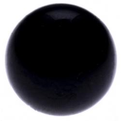 Stilivita - Bille Tourmaline Noire  - diamètre 6mm - trou intérieur adapté 1.3mm