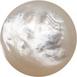 Cabochon pour bague interchangeable Yola - diamètre 14m - nacre blanche