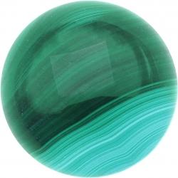 Cabochon pour collier interchangeable Yola - diamètre 20mm - malachite