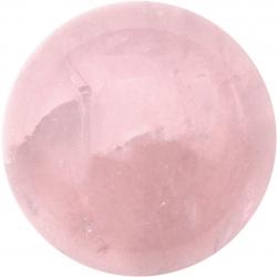 Cabochon pour collier interchangeable Yola - diamètre 20mm - quartz rose