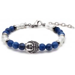 Bracelet STILIVITA en acier - Collection équilibre - APAISEMENT & CALME INTELLECTUELLE - sodalite - pierre de lune - séparate…