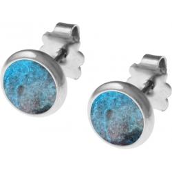 Boucles d'oreille acier 8mm - chrysocolle