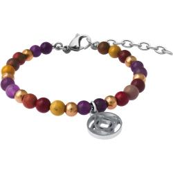 Bracelet STILIVITA en acier - Collection équilibre - ANTI-CONFINEMENT - améthyste - mookaite - charkra racine - 17+4cm