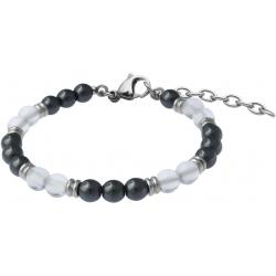 Bracelet STILIVITA en acier - Collection Médecine douce - RENOUVEAU - cristal de roche - hématite - 17+4cm