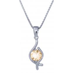Collier en argent rhodié 3g - péridot - 1,1 carat - 40cm