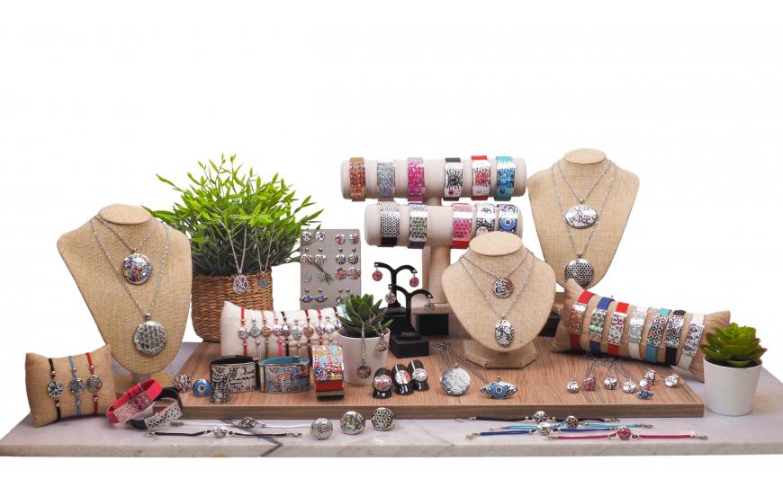 Collection ODENA 2021 - Bijoux en acier, émail et nacre