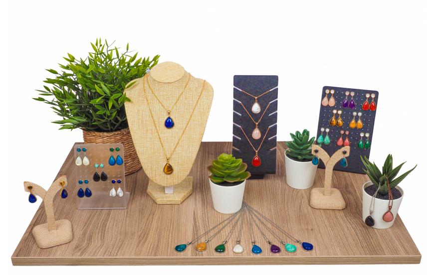 Collection YOLA Printemps / Été 2021 - gouttes pierres naturelles