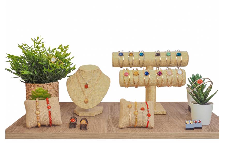 Collection Yola Printemps / Été 2021 - cabochons en pierres naturelles