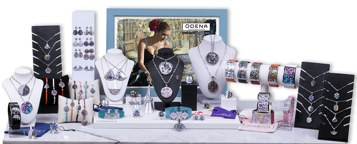 Collection ODENA HIVER 2019 - Bijoux en acier, émail et nacre