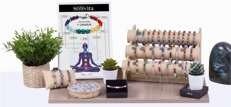 Bracelet SILIVITA - 7 Chakras et équilibre
