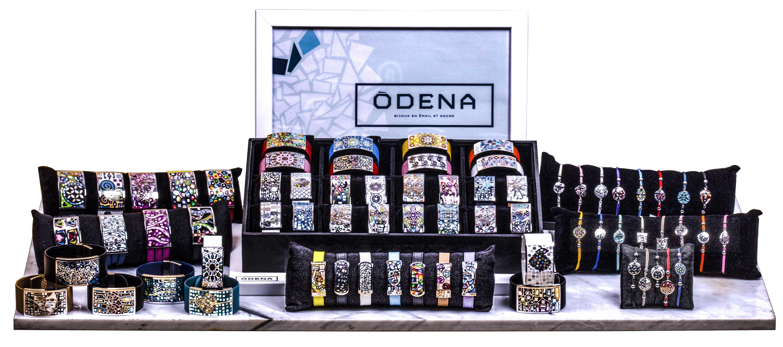 Collection ODENA 2020 - Bijoux en acier, émail et nacre